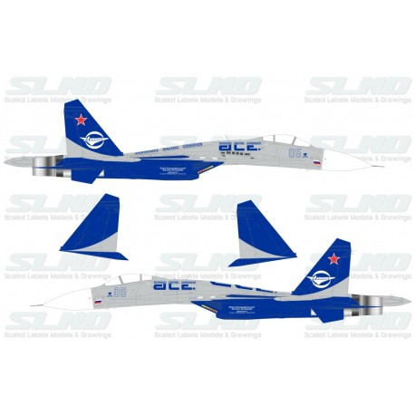 "Su-27LL Blue 05 -  ACE ""Advanced Control Experiement"""
