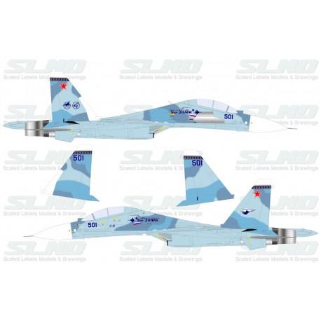 Su-30MKK Blue 501