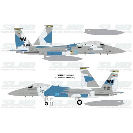 F-15C Aggressors 780494 Splintered Camo - 2006