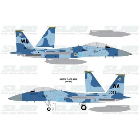 F-15D Aggressors 800058 Blue Camo - 2008