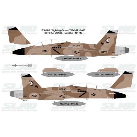 """F/A-18B """"Fighting Omars"""" VFC-12 - 2000, NAS Oceana - 161740"""