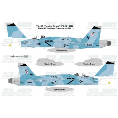 """F/A-18A """"Fighting Omars"""" VFC-12 - 2000, NAS Oceana - 162435"""