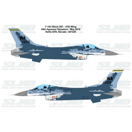 F-16C Block25C - 57th Wing 64th Aggressor Squadron - Nellis AFB - 841220