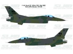 F-16C Block 25 - 422nd TES (1980) - Nellis AFB, Nevada - 831128